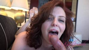 Happy endings for Emma with a creampie to go